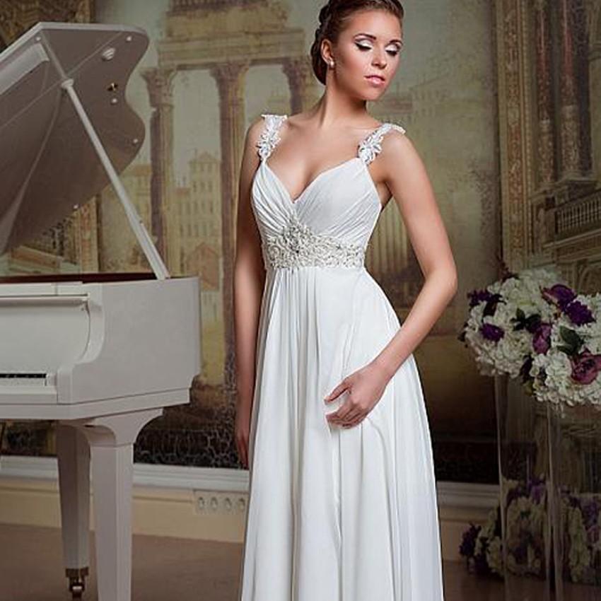 antické svatební na ramínka šifonové bílé. svatební šaty » skladem » M-L · svatební  šaty » skladem » XS-S · svatební šaty » skladem » nad 5000Kč 0c2547f99dd